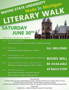 City Slang: Wayne State Literary Walk this Saturday