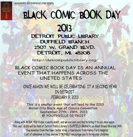 BLACK COMIC BOOK DAY 2013