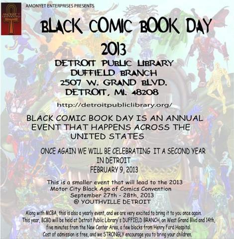 BLACK COMIC BOOK DAY 2013