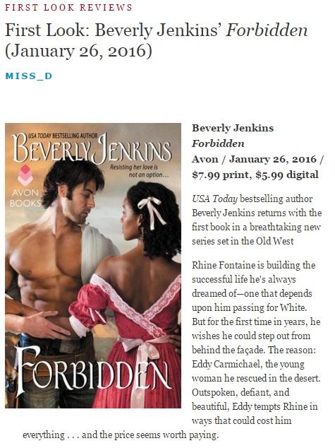 ForbiddenBeverlyJenkinsReview