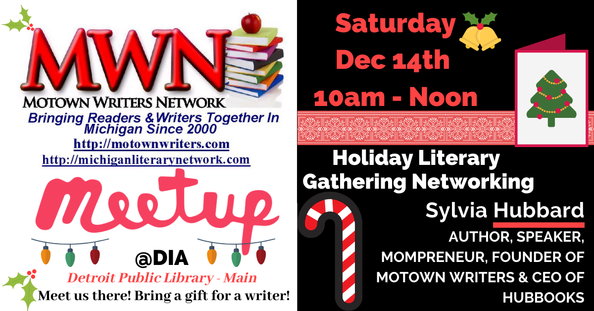 Save the Date! You're cordially invited to the #MotownWriters Holiday Literary Gathering with a gift exchange