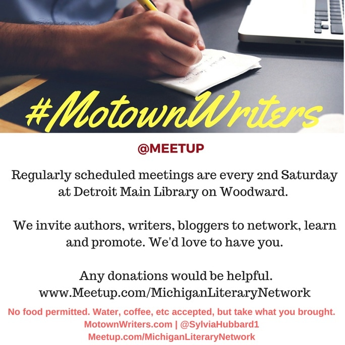 Reminder: #Meetup with #Motownwriters @DetroitPublic Library – Main every 2nd Saturday