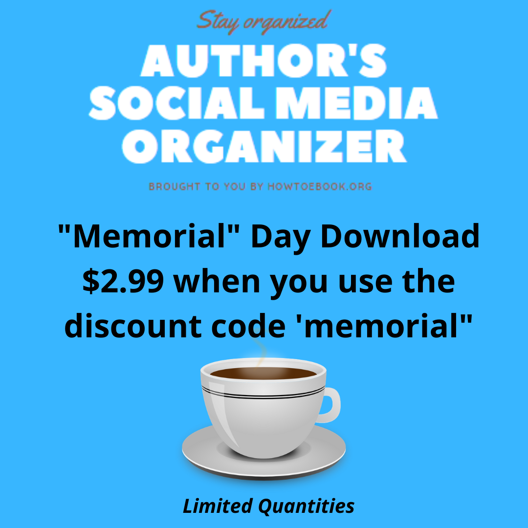 Very Last day to secure the 'memorial' Day Deal! 📚 Author's Social Media Organize #boookpromo assistant right in your hands!