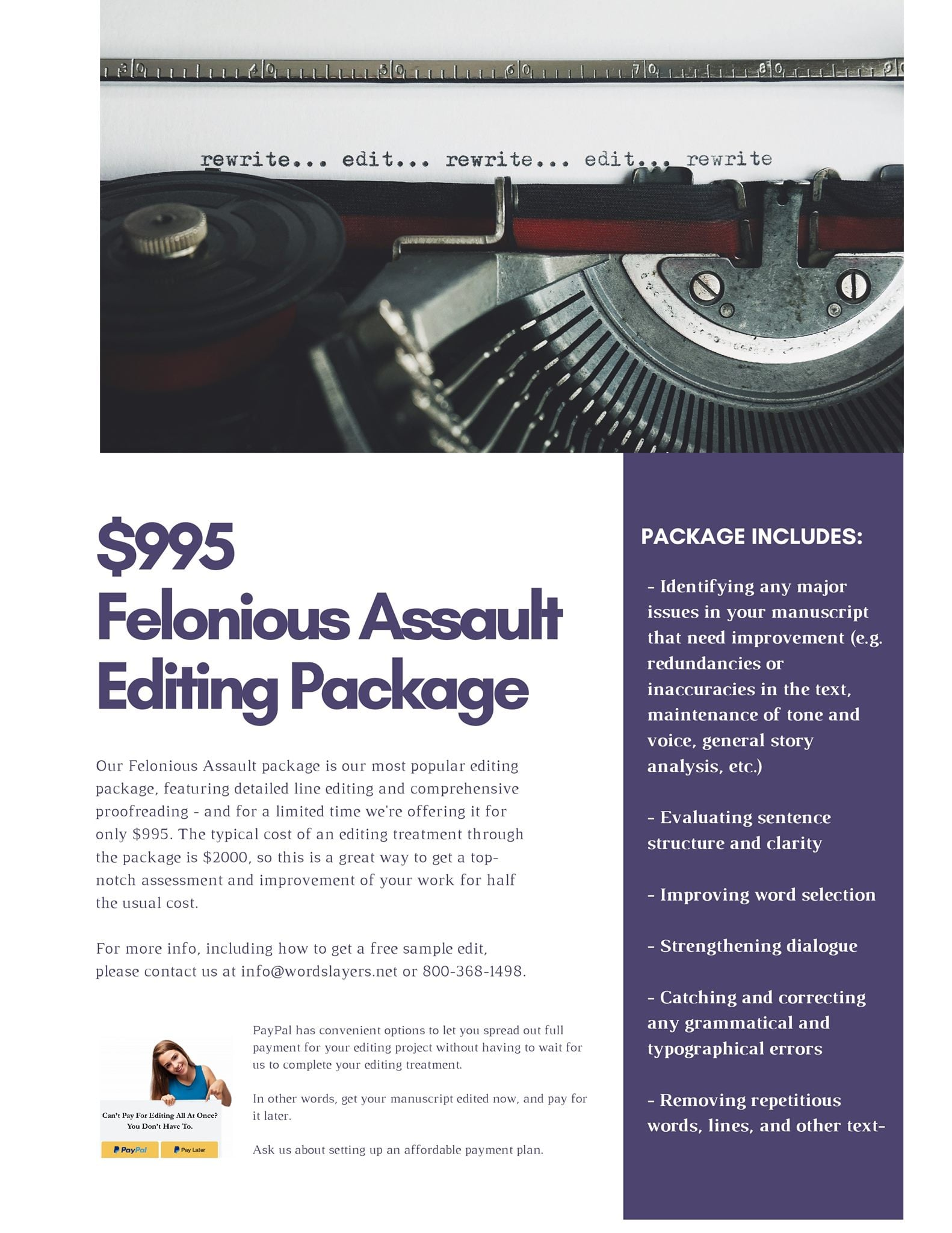 Felonious Assault Editing Package #MotownWriters Special via @thewordslayer
